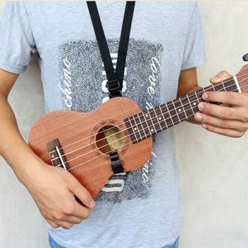 54-67cm gitara pasek do Ukulele instrumenty strunowe akcesoria regulowany Instrument muzyczny pas nylonowy chusta z hakiem tanie i dobre opinie CN (pochodzenie) Ukulele Strap Guitar Accessories Ukulele Accessories 54-67cm 21 25-26 37in (adjustable length) Black About 15g