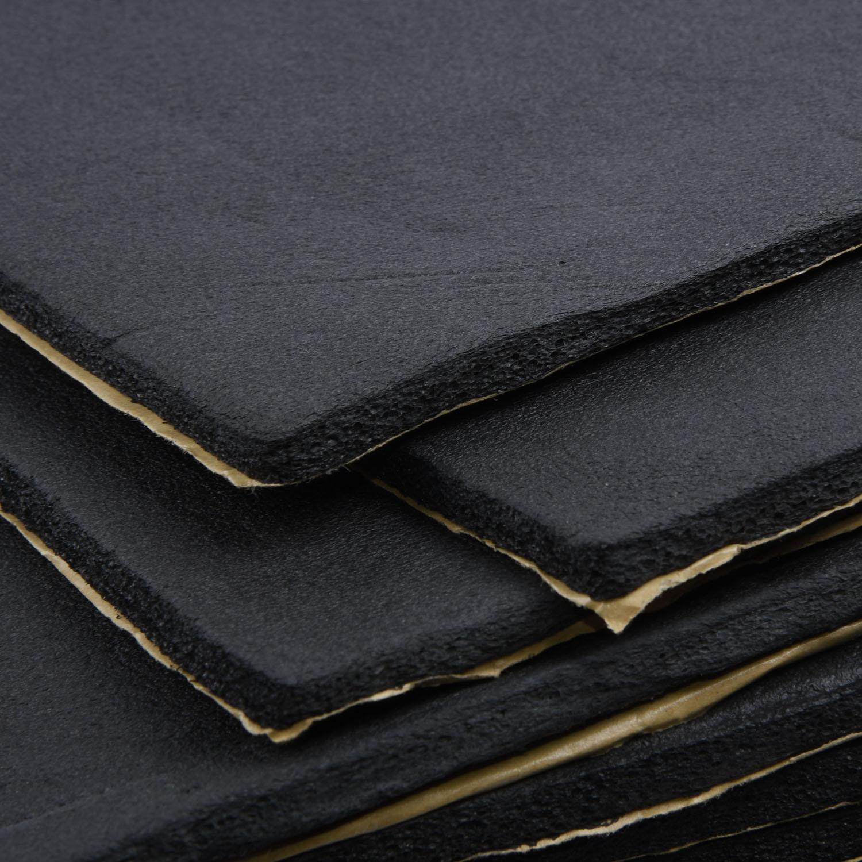 Car Foam Auto Sound Proofing Insulation Black Noise Insulation Rubber Plastic 9PCS New Hot