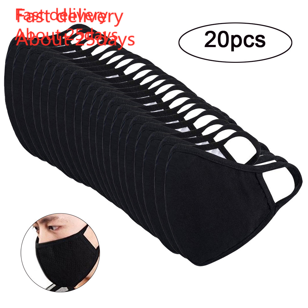 Mask Mascara Coronavirus 20pc Anti-dust Reusable Cotton Mouth Face Masks Mouth Cover For Man And Woman Masks