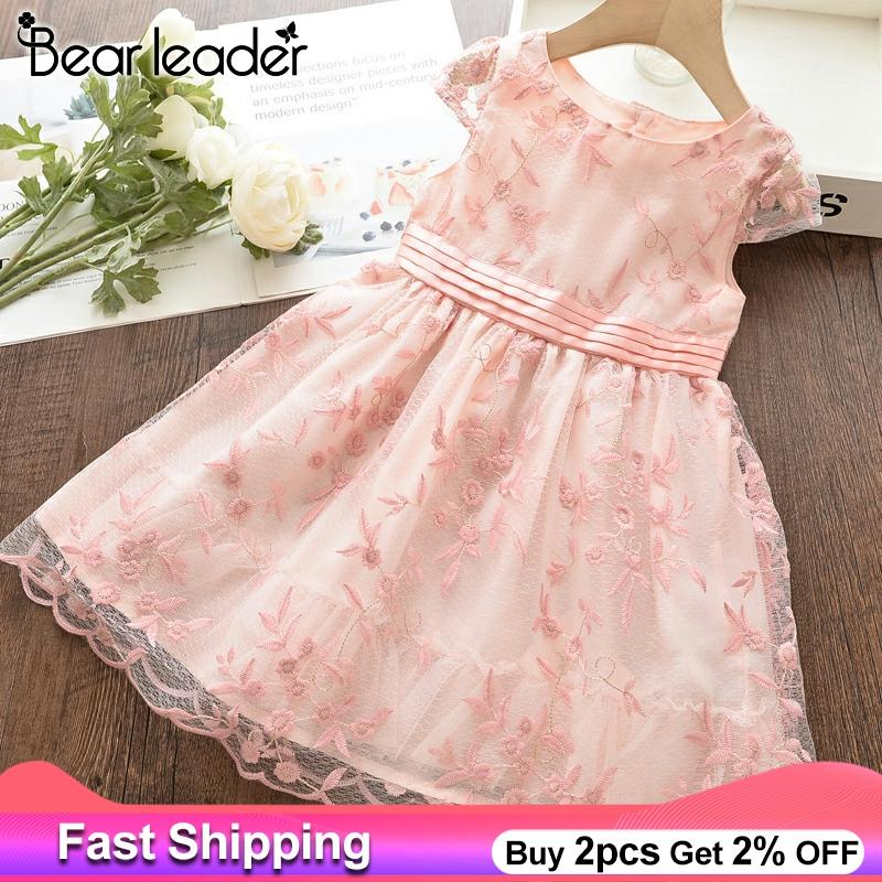 Bear Leader Girls <font><b>Princess</b></font> <font><b>Dress</b></font> New Summer Kids Wedding Costume Flower <font><b>Party</b></font> <font><b>Dresses</b></font> Festival Outfits Children Clothing 3 8Y image