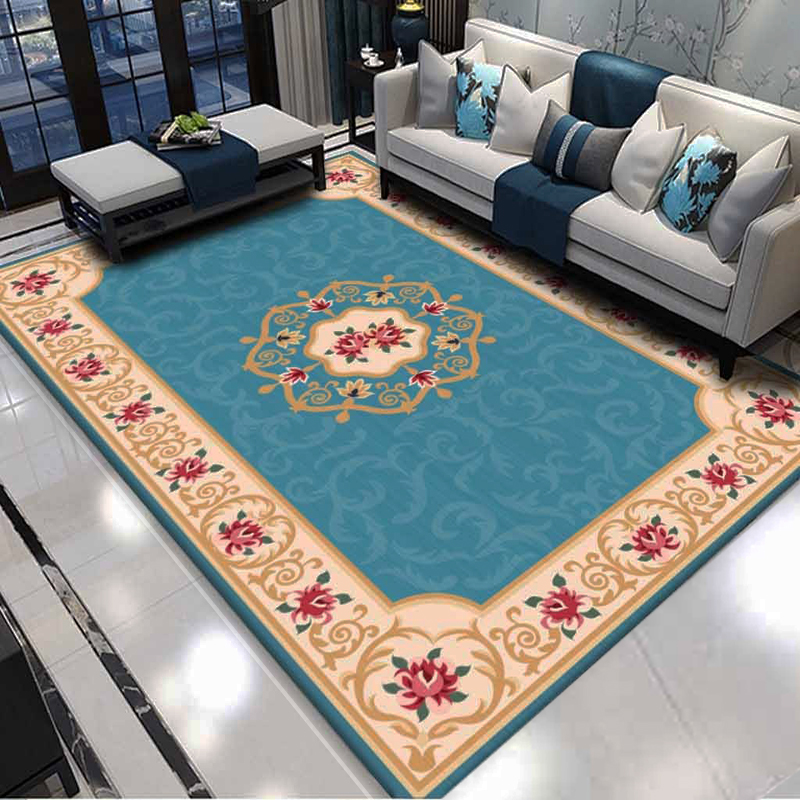 Persian Style Large Area Rug  Abstract Flower Art Carpets For Living Room Bedroom Anti-Slip Floor Mat Carpets Drop Ship