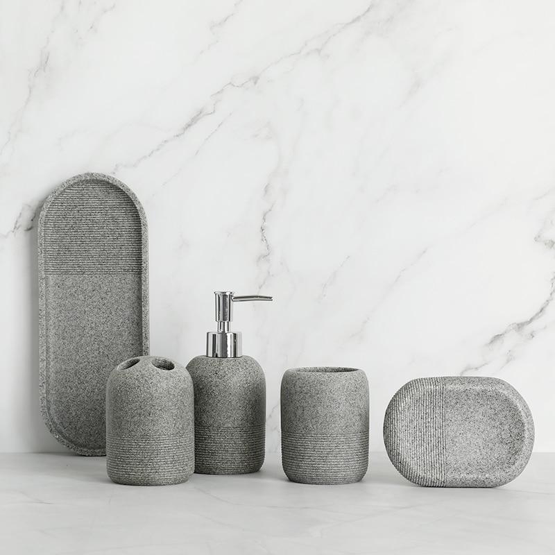 Набор аксессуаров для ванной комнаты из 6 предметов диспенсер
