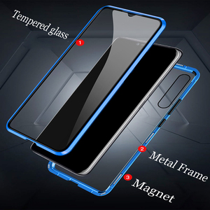 Image 3 - Чехол для OPPO Reno 2Z 2F, двухсторонний металлический магнитный стеклянный Магнитный чехол 360, чехол для Reno 2 Z 10X Zoom, Противоударные Защитные чехлы