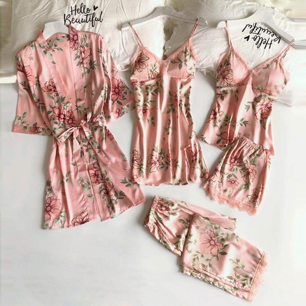 US $10.10 310% OFFWanita Fashion Bunga Renda Baju Tidur Lingerie Baju Tidur  Sleepshirts Wanita Pengantin Baju Tidur Malam Gaun Sexy Baju TidurTidur