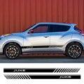2 шт. для Nissan Juke Авто двусторонний Декор графические виниловые полосы наклейки автомобильные двери боковая юбка наклейки гонки внешние аксе...