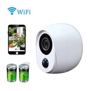 Image 1 - Wdskivi 100%, cámara IP sin cables con batería, cámara inalámbrica para exteriores, resistente al agua, seguridad WiFi, cámara de vigilancia CCTV, alarma inteligente