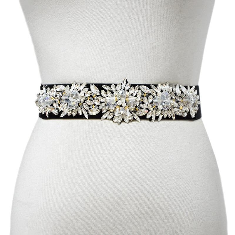 Luxury Designers 2020 New Women's Elastic Belt Rhinestone Inlaid Rice Beads Belt Fashion Decoration Small Waist Seal bg-1492