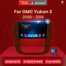 Junsun V1 pro 2G + 128G Android 10 pour GMC Yukon 3 GMT 900 2006 - 2014 autoradio multimédia lecteur vidéo Navigation GPS 2 din dvd