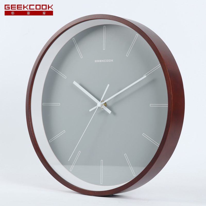 Nordic Modern Wall Clock Metal Wooden Frame Silent Bedroom Large Kitchen Clock Wall Watches Home Decor Duvar Saati Gift FZ772