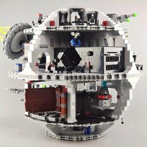 США в наличии 05063 4016 шт Звездные войны фильм серии Death Star строительные блоки кирпичи детские игрушки Рождественский подарок 75105