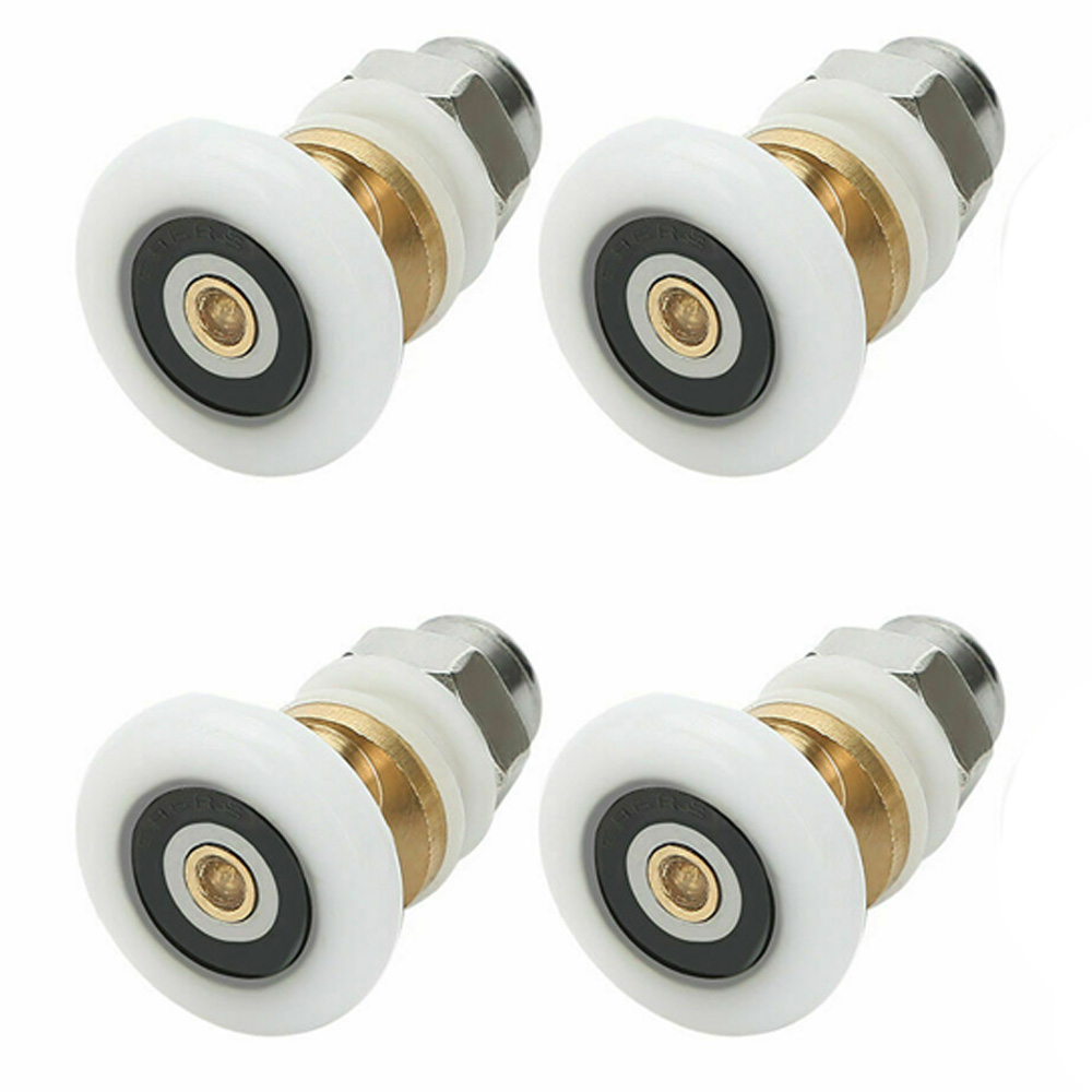 Set Of 4 Single SHOWER Door ROLLERS /Runners/Pulleys 19mm23mm 25mm 27mmWheels