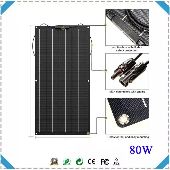 Novo 80w etfe painel solar para fornecer