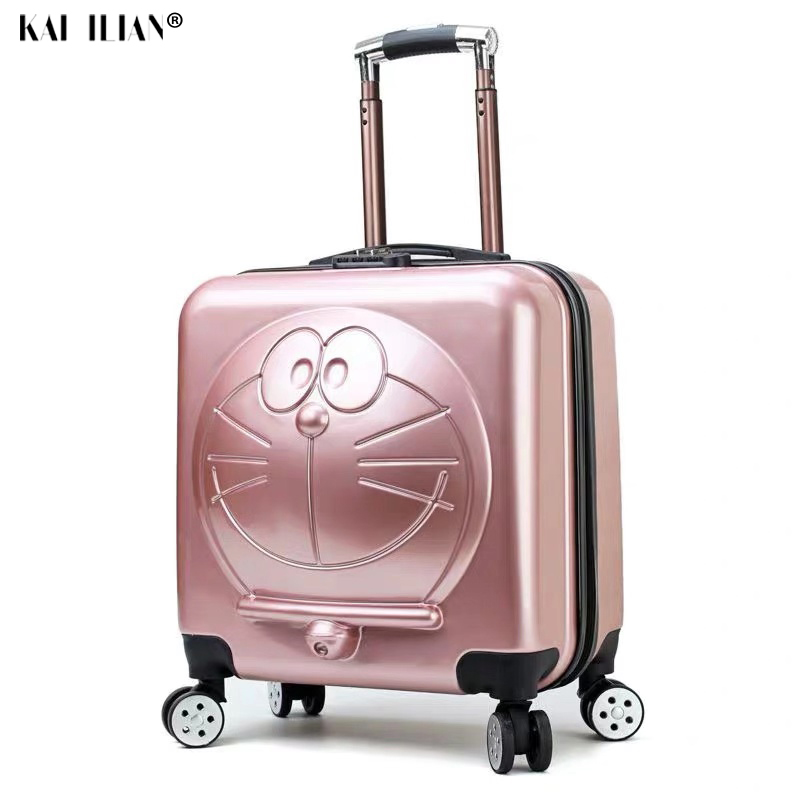 New Children Doraemon Cartoon Luggage 3D Machine Cat Luggage Rolling Wheels Trolley Suitcase Bag Cute Kids Suitcase With Wheels