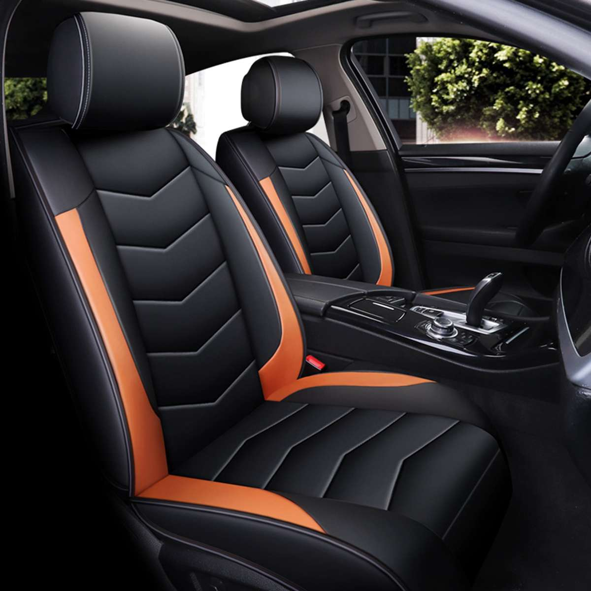 Car-Seat-Cover Front-Seat-Protector Vehicle Universal Car-Styling Peugeot PU for BMW title=