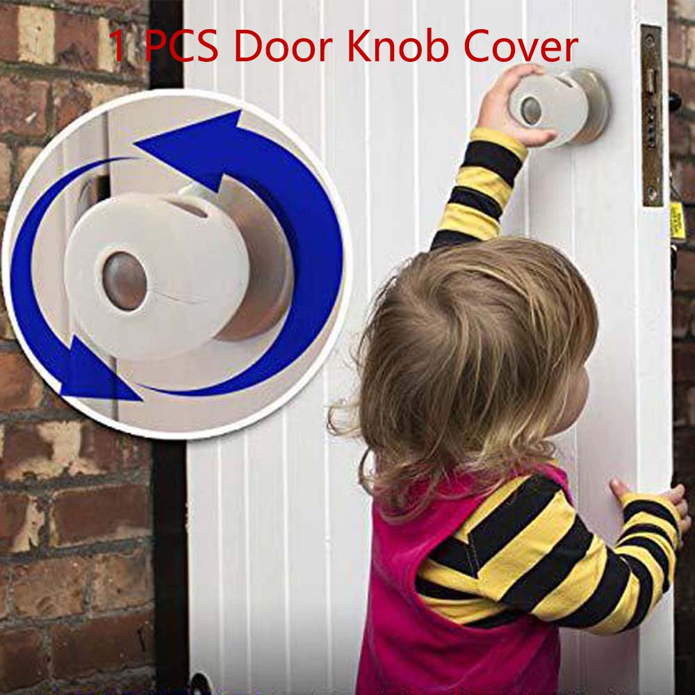 Door Lever Lock Child Safety Door Handle Lock Anti-open Child-Proof Safe Door Knob Cover For Children Safety Lock High Quality