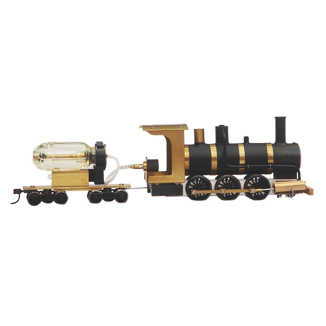 1:87 HO Scale Steam Drive Train Model Steam Locomotive Model Live Steam Engine with Track  Steam Engine Boiler Fuel Tank, etc.)