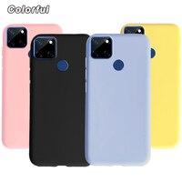Cover in Silicone Color caramella per Realme 7i Global Case Cover posteriore morbida in TPU opaco per Coque Realme 7i Funda Realme7i 6.5