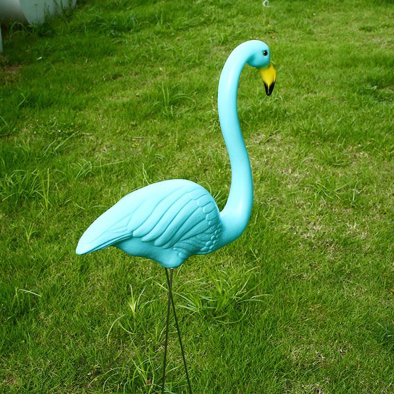Фламинго лужайка украшение пластик искусственный украшение фламинго фигурки фламинго орнамент двор сад украшения балкон искусство