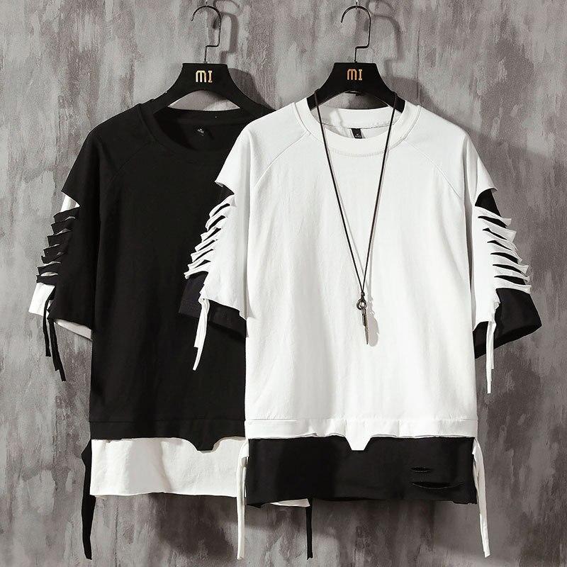 Short Sleeve T Shirt Men Hip Hop Mens Cotton Plus Size Tshirt O-neck Summer Tee Causal Fashion Loose Tshirts