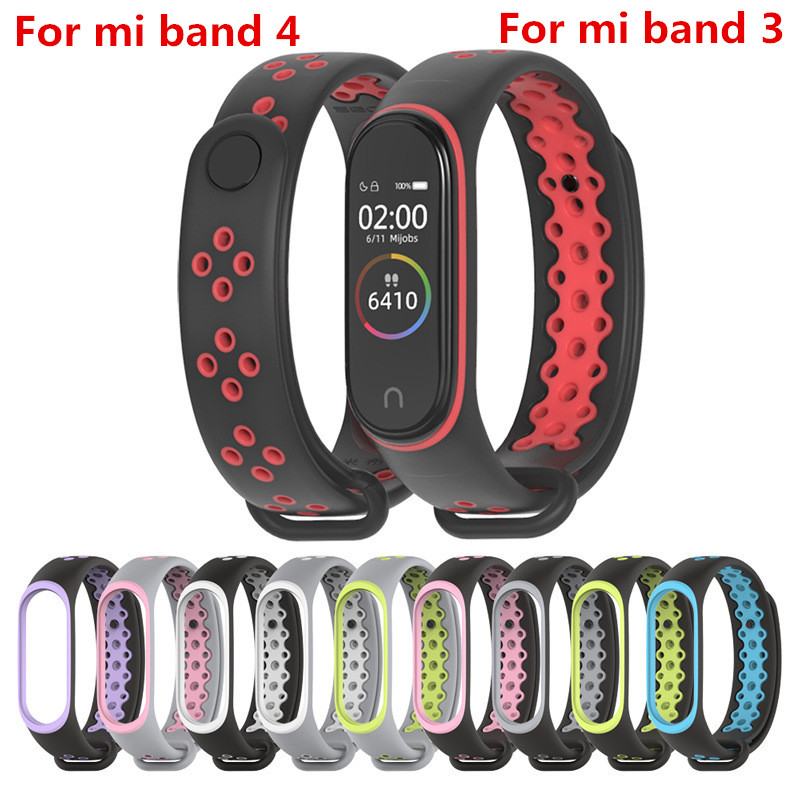 Mi Band 4 Strap Sport Wrist Strap For Xiaomi Mi Band 3  Black Silicone Bracelet For Band3 Xiaomi Mi Band 4  Smart Watch Bracelet