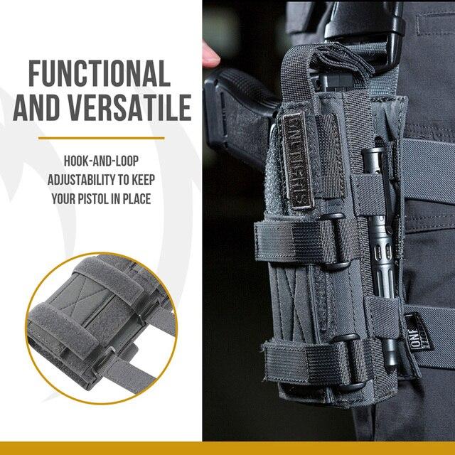 OneTigris Tactical Gun Holster Molle Modular Belt Pistol Holster for Right Handed Shooters Glock 17 19 22 23 31 32 34 35 6