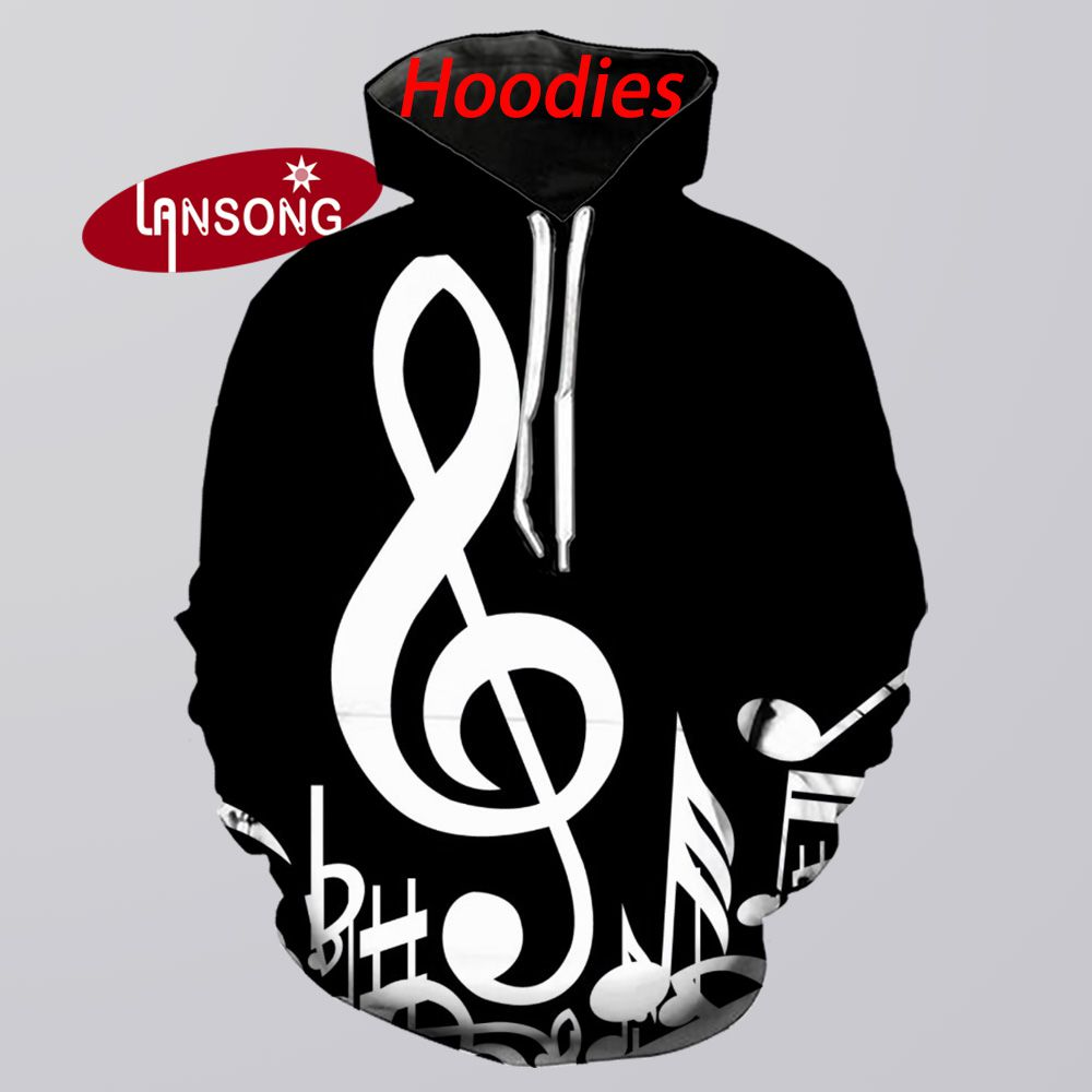 Men 3d Print Musical Notes Funny Hoodies Harajuku Sweashirts/pants Winter Jacket Men Short Homme Clothes Men Hip Hop Streetwears