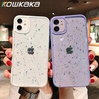 Für iPhone 11 Pro Max Wunderschöne Klar Glitter Stoßfest Telefon Fall Für iPhone XS Max XR X 6 6s 7 8 Plus Nette Sterne Pailletten Shell
