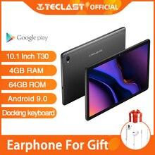 Presale New Teclast T30 планшет Android 9,0 ОС 10,1 дюймов 4G нетбук и вызов 1920*1200 фаблет Восьмиядерный 4 Гб RAM 64 Гб ROM 8000 мАч