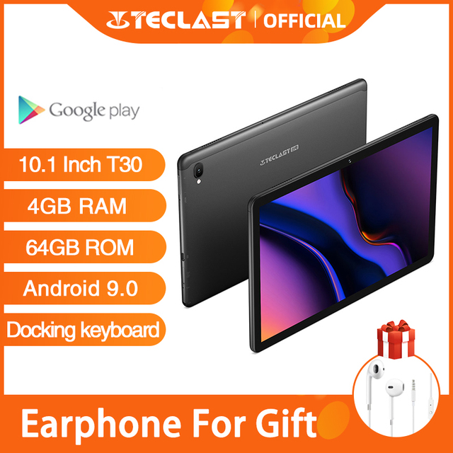 Presale New Teclast T30 Tablet Android 9.0 OS 10.1 Inch 4G Netbook and Call 1920*1200 Phablet Octa Core 4GB RAM 64GB ROM 8000mAh