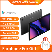 Voorverkoop Nieuwe Teclast T30 Tablet Android 9.0 Os 10.1 Inch 4G Netbook En Call 1920*1200 Phablet Octa core 4Gb Ram 64Gb Rom 8000Mah