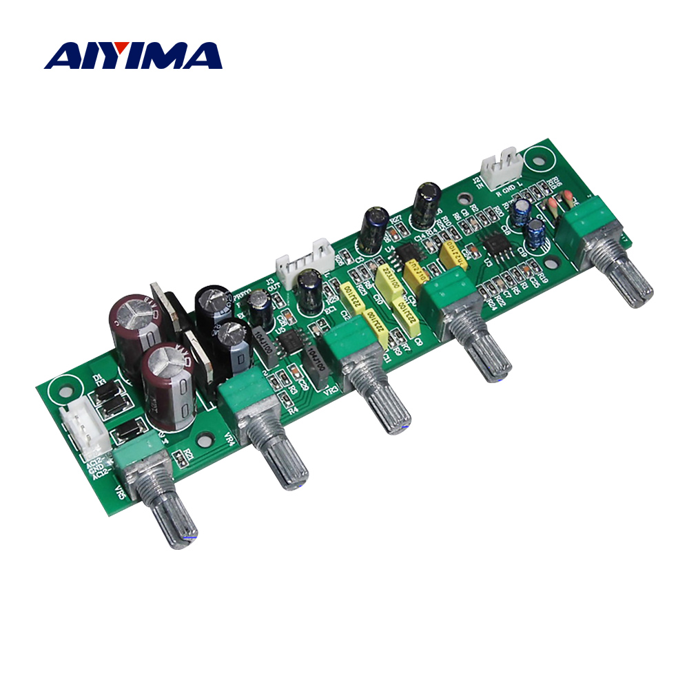 AIYIMA NE5532 Subwoofer Preamplifier Tone Board 2.1 Preamp Treble Bass Ultra Low Frequency Independent Adjustment Dual AC12V-15V