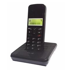 Chamada id telefone sem fio digital com blacklight alto-falante sem fio estação base sem fio telefone fixo para escritório preto