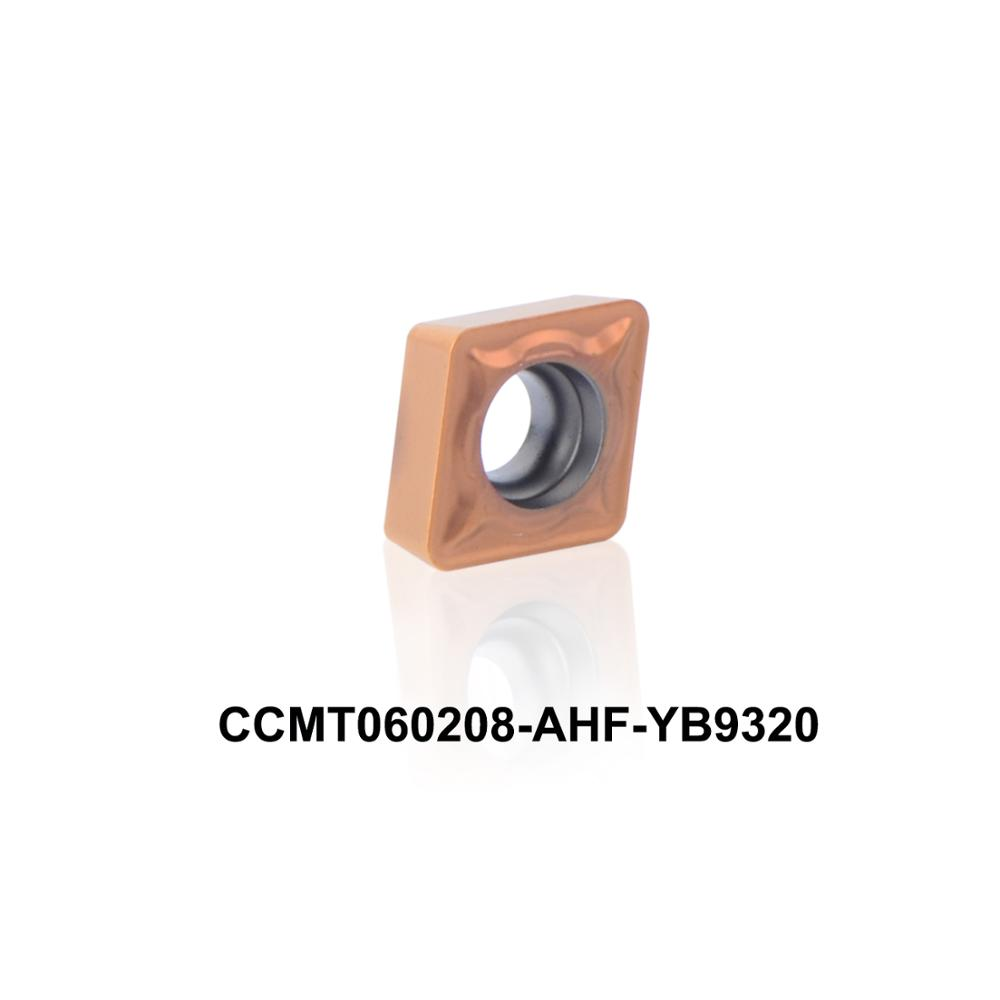 2016 nuovo inserto di tornitura CNC CCMT060208-AHF YB9320 ad alte prestazioni per acciaio inossidabile CCMT 060208 CCMT060208 CCMT2 (1.5) 2
