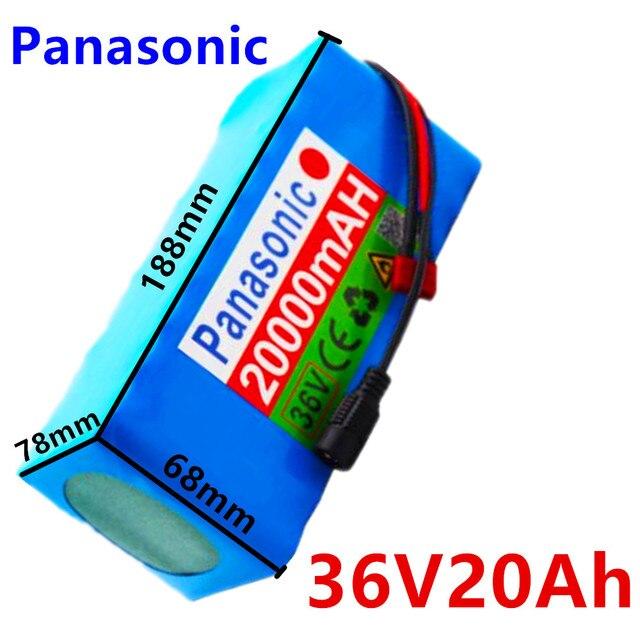 Panasonic 36V Batterij 10S4P 42 20Ah Batterij 500W High Power Mah Batterij 20000V Ebike Elektrische Fiets Lader bms + 42V