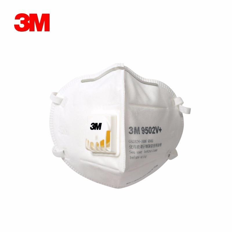 10pcs 3M KN95 Mask Mascara Anti-Dust Flu Smoke And Allergies Masker Sensi Adjust Reusable N95 Mask Mouth 9502V+