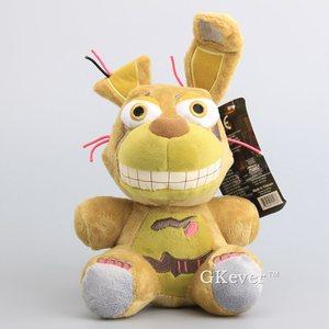 18cm Tan Springtrap Plush Doll Toys Five Nights At Freddy's 4 Kawaii Nightnare Freddy Bonnie stuffed toys Children Birthday Gift