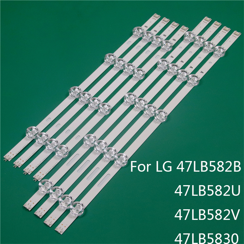 LED TV Illumination Part Replacement For LG 47LB582B 47LB582U 47LB582V 47LB5830 LED Bar Backlight Strip Line Ruler DRT3.0 47 A B