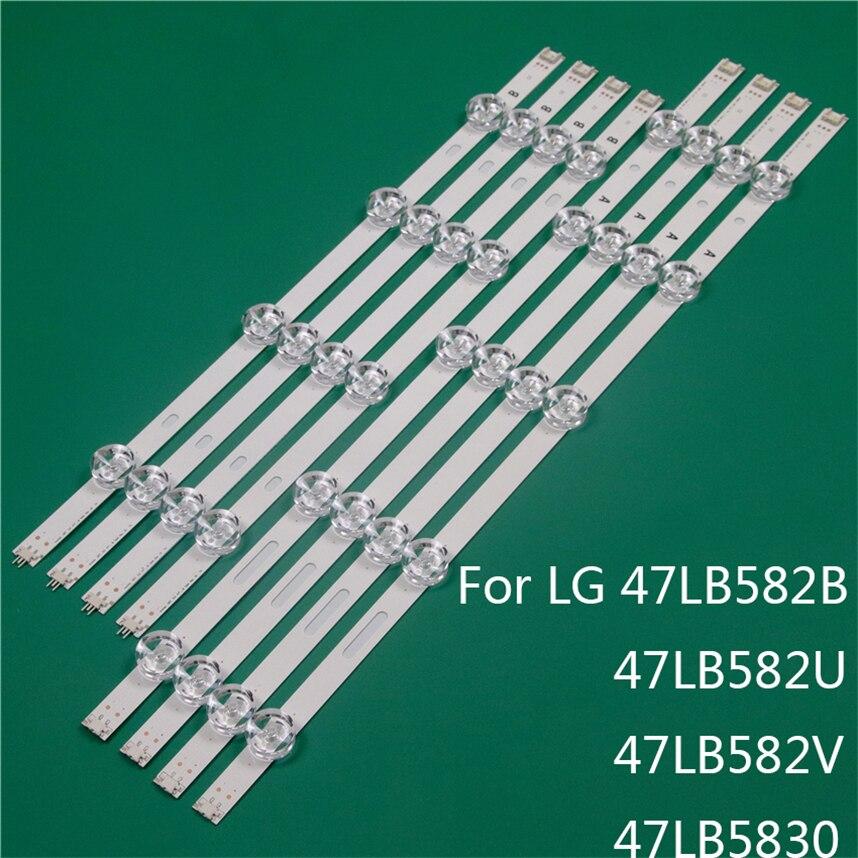 LED TV Illumination Part Replacement For LG 47LB582B 47LB582U 47LB582V 47LB5830 LED Bar Backlight Strip Line Ruler DRT3.0 47 A B