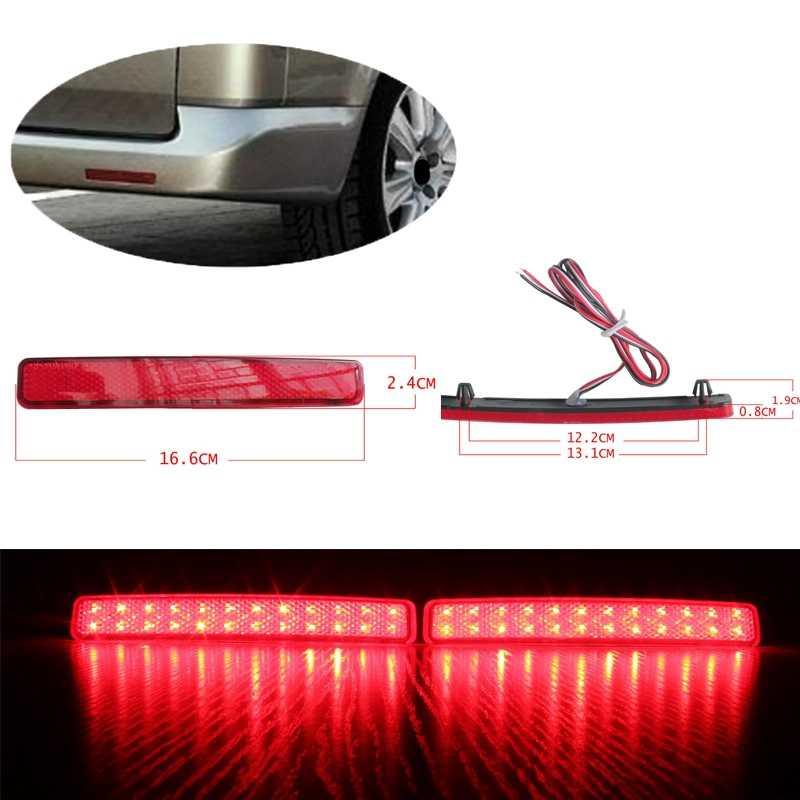 2 pces carro amortecedor traseiro refletor luz de freio led lanterna traseira para volkswagen t5 transportador/caravelle/multivan 2003-2011