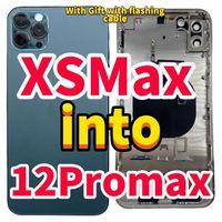 Custodia Cover posteriore per iphone xs max Like 12 pro max Cover per iphone xsmax in a 12 pro max XSmax fino a 12promax + Flex lightning