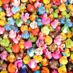Image 5 - ESALINK 100PCS 목욕 장난감 무작위 고무 오리 멀티 스타일 오리 아기 목욕 욕실 물 장난감 수영장 부동 장난감 오리