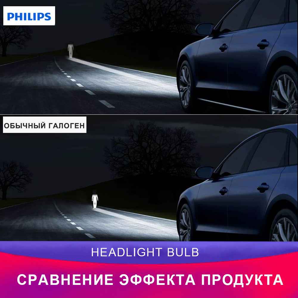 PHILIPS Racing Vision автомобиль головное освещение 12972RVB1 H7 Дальний свет Ближний свет Галоген освещение - 5