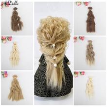15*100cm doll hair DIY Synthetic Hair For Dolls Bjd Doll 1/4/3/6 Accessories Wig wavy Hair For Dolls Bjd DIY wavy Hair kid gift все цены