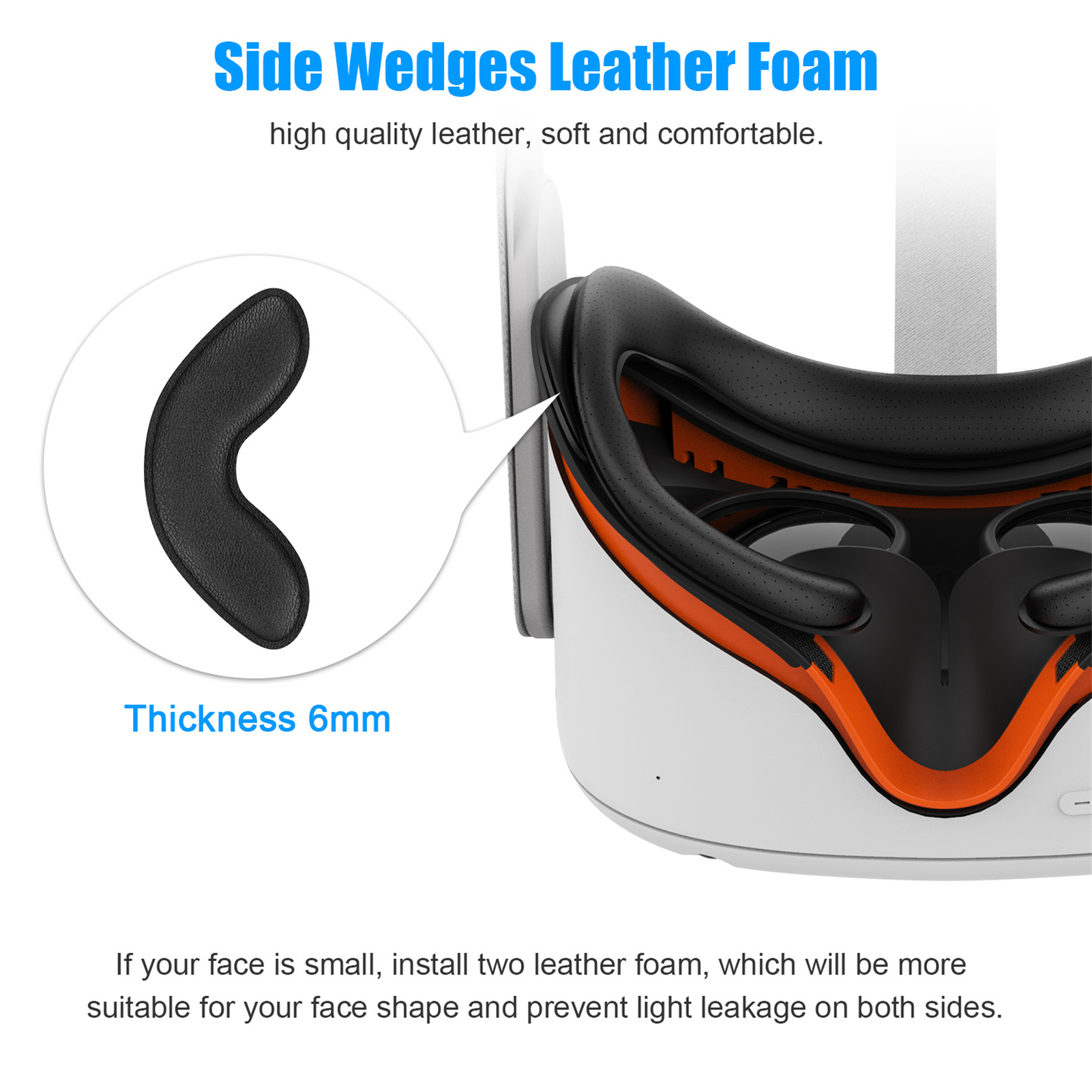 Vr face cover protetor facial para oculus ques 2 sweatproof vr lente capa para oculus quest 2 à prova de vazamento nariz almofada dropship