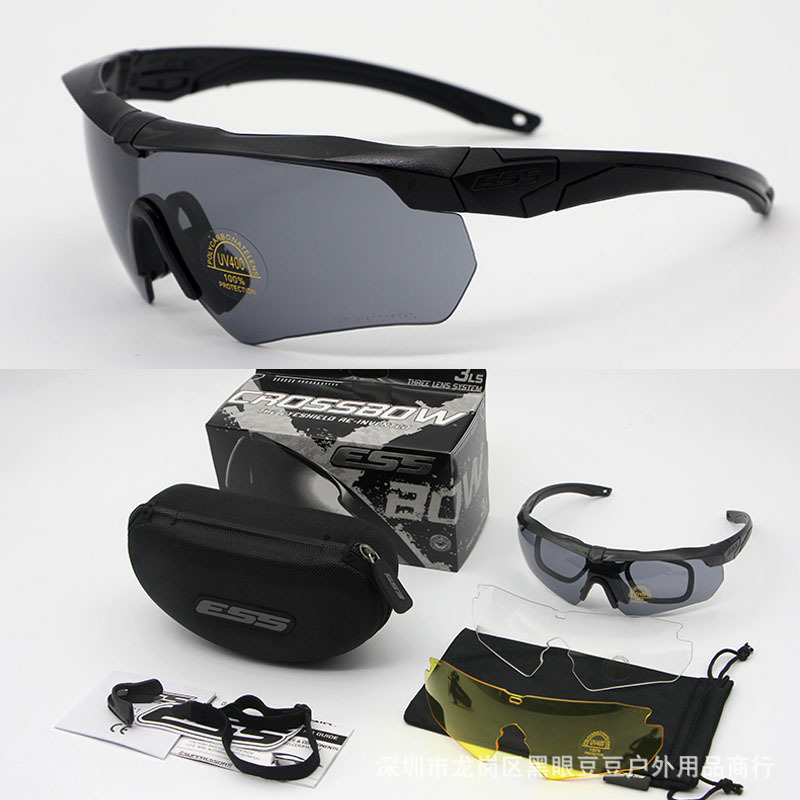Wholesale ESS Army Fans CS Shooting Glasses Bulletproof Tactical Crossbow Eye-protection Goggles Explosion-Proof Windproof Sand
