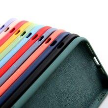Original silicone líquido caso de luxo para apple iphone 11 12 pro max mini 7 8 6s plus xr x xs max 5 5S se à prova de choque caso capa