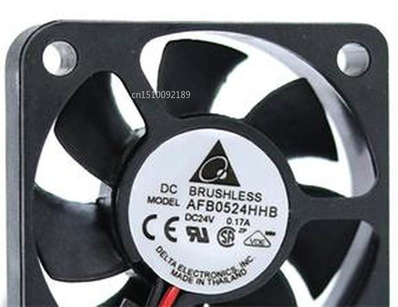 For AFB0524HHB 5015 24V 0.17A 5CM Large Air Volume Double Ball Inverter Fan Free Shipping