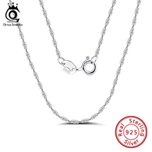 ORSA JEWELS Italian 925 Sterling Silver Chain for Pendants Necklaces 2.3mm Twisted Curb Singapore Rope Chain Necklace SC02