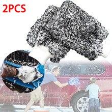 Guantes de microfibra para lavado de coche, manopla Premium Cyclone, soporta toneladas de agua Sudsy para lavado efectivo, 2 uds.