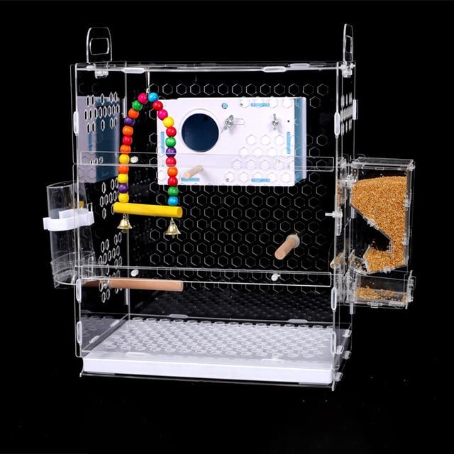 Transparent Parrot Cage 5